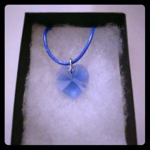 Jewelry - Lustrous Blue Crystal Heart Necklace